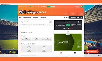 Du kan naturligvis spille på masser af live betting hos LeoVegas Sport