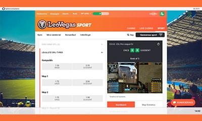 LeoVegas Sport byder bl.a. på live streaming af eSport