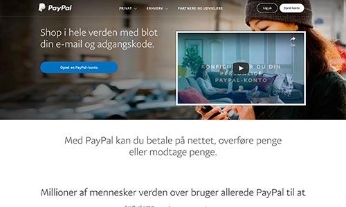 Du kan naturligvis benytte PayPal i Danmark